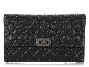 Valentino Vl.q0712.09 Matelasse Studded Cross Body Bag