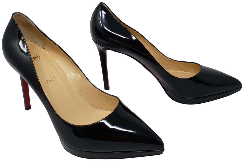 huge discount ee9e9 f7b89 Christian Louboutin Black Patent Leather Pigalle Plato 100 Pumps Size EU 42  (Approx. US 12) Regular (M, B) 20% off retail