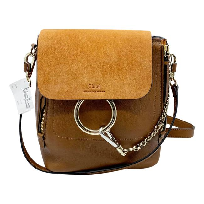Item - Faye Small Suede and Tobacco Brown Leather Backpack