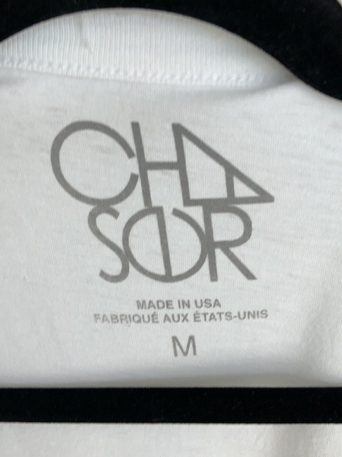 Chaser T Shirt White with graphic design Image 3
