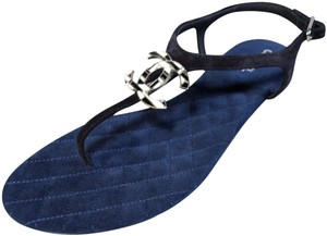 Chanel Black & Blue Flats