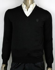 Gucci Black Hysteria L Men's Wool V-neck Sweater with Crest 438136 Groomsman Gift