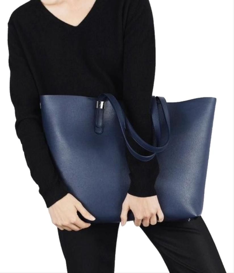 Petra Market Navy Leather Tote