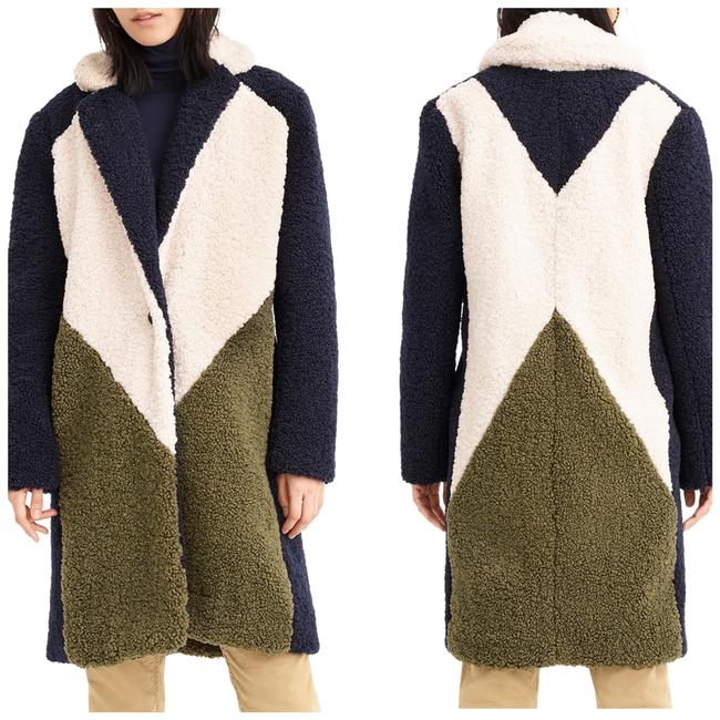 Item - Colorblock Faux Shearling Topcoat Coat Size 14 (L)