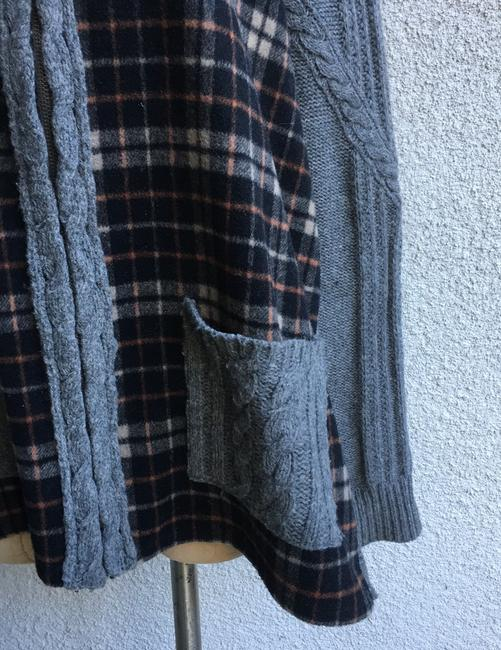 Anthropologie Derry Plaid Fall Winter Moth gray multi Jacket Image 2