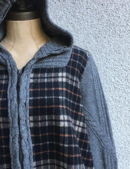 Anthropologie Derry Plaid Fall Winter Moth gray multi Jacket Image 3