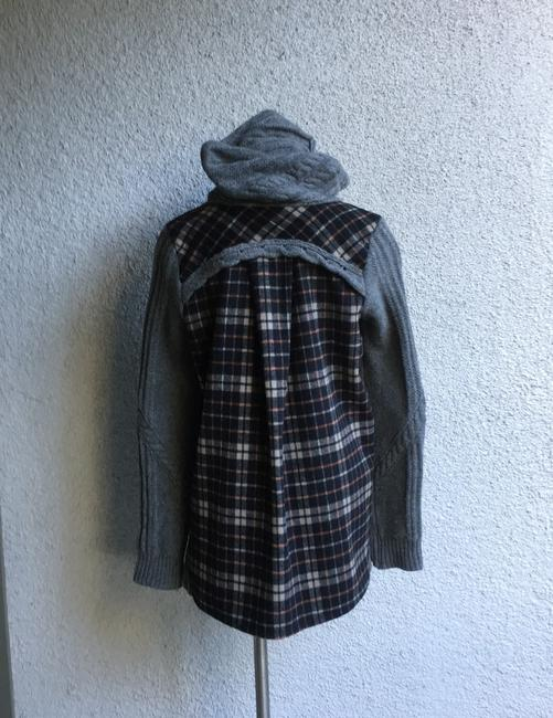 Anthropologie Derry Plaid Fall Winter Moth gray multi Jacket Image 4