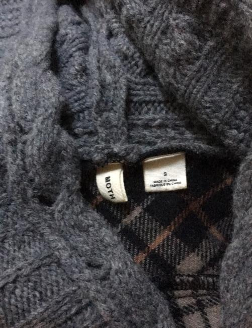 Anthropologie Derry Plaid Fall Winter Moth gray multi Jacket Image 5