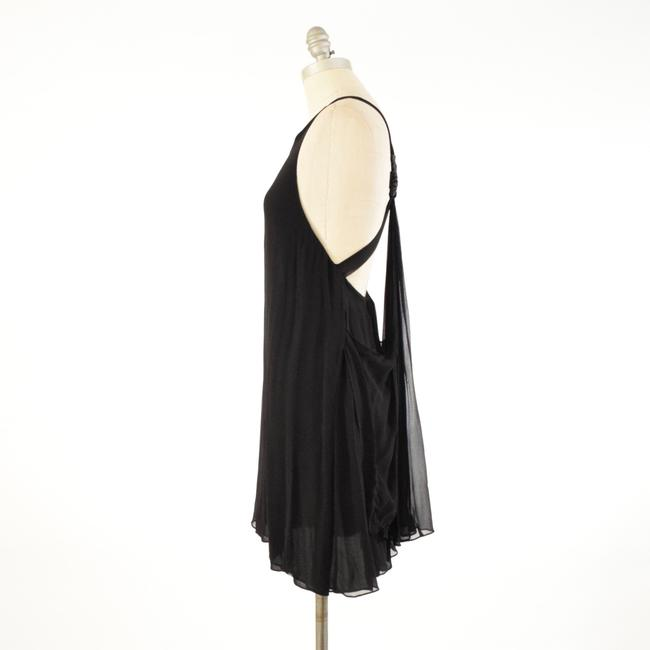 Alice + Olivia Silk Chiffon Scoop Neck Open Mini Dress Image 2