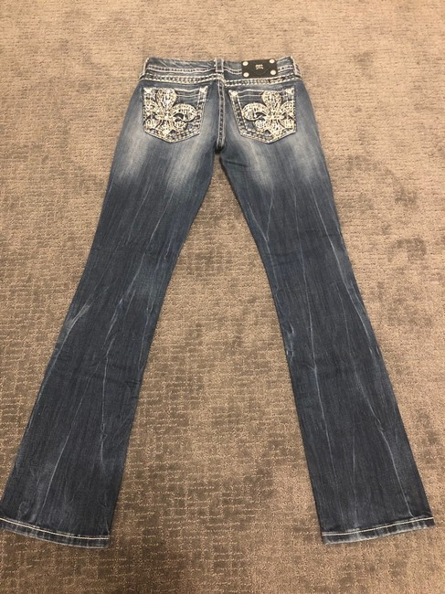 Miss Me Boot Cut Jeans-Dark Rinse Image 2