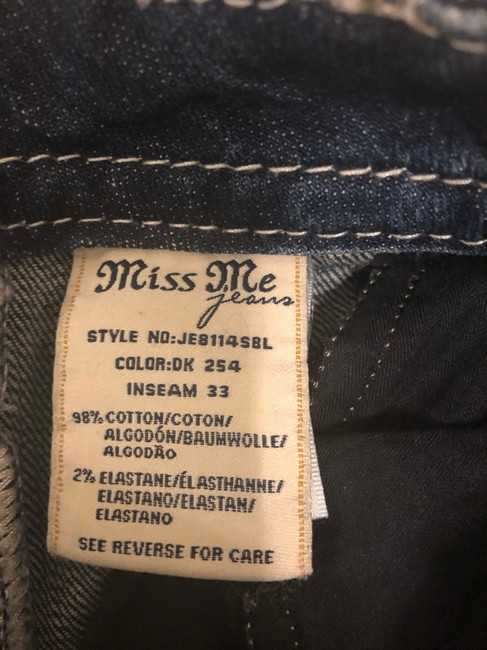 Miss Me Boot Cut Jeans-Dark Rinse Image 5