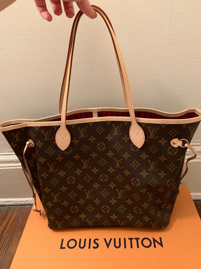 Louis Vuitton Monogram Luxury Leather European Gold Hardware Tote in brown Image 2