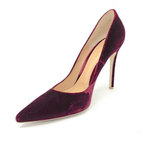Gianvito Rossi Burgundy Pumps Image 1