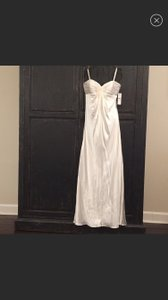 Laundry by Shelli Segal Ivory Silk Modern Wedding Dress Size 4 (S)