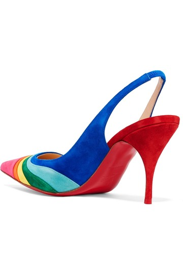 Christian Louboutin Degradama Suede Rainbow multi Pumps Image 2