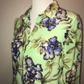 Alice + Olivia And Floral Silk Top Green Image 5