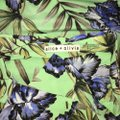 Alice + Olivia And Floral Silk Top Green Image 7