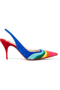 Christian Louboutin Degradama Suede Rainbow multi Pumps
