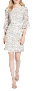 Draper James short dress Cream Lace Bell Sleeve Embroidered Ribbon Scoop Neck on Tradesy
