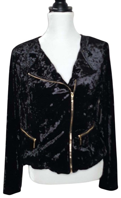 Thalia Sodi Crushed Velvet Fur Coat Image 0