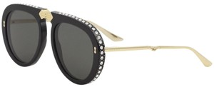 Gucci Gucci GG 0307S Foldable 001 Black/Gold Plastic Aviator Sunglasses