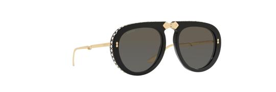 Gucci Gucci GG 0307S Foldable 001 Black/Gold Plastic Aviator Sunglasses Image 1