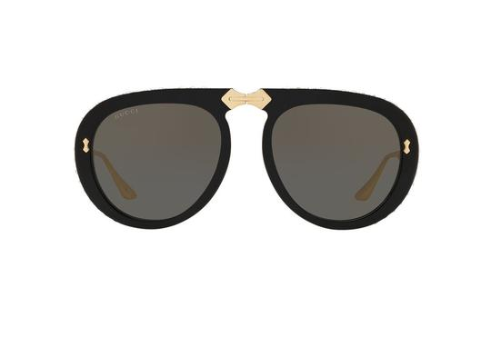 Gucci Gucci GG 0307S Foldable 001 Black/Gold Plastic Aviator Sunglasses Image 2