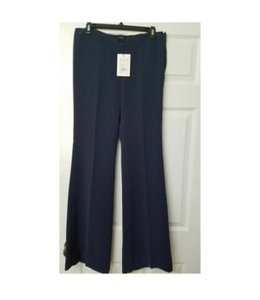 Theory Modern Crepe Lt Flare Pant Sz 8 Flare Pants spring navy