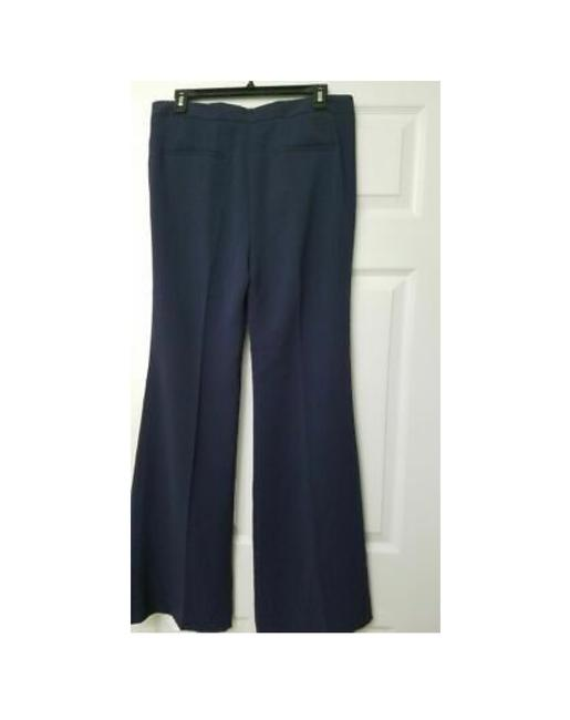 Theory Modern Crepe Lt Flare Pant Sz 8 Flare Pants spring navy Image 1