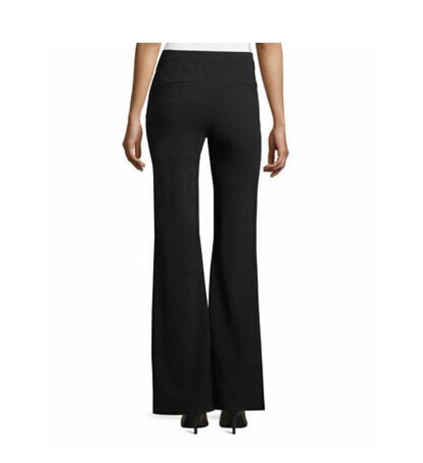 Theory Modern Crepe Lt Flare Pant Sz 8 Flare Pants spring navy Image 3