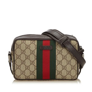 Gucci 8igucx036 Vintage Plastic Leather Cross Body Bag