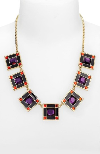 Preload https://img-static.tradesy.com/item/25897222/kate-spade-ruby-red-and-royal-purple-lewitt-squares-necklace-0-1-540-540.jpg