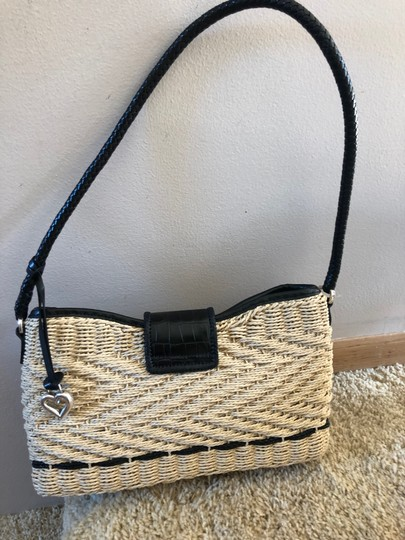 Brighton Woven Purse Braided Leather Woven Purse Shoulder Bag Image 1