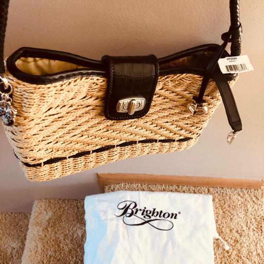 Brighton Woven Purse Braided Leather Woven Purse Shoulder Bag Image 5