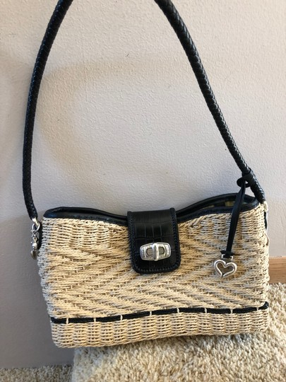Brighton Woven Purse Braided Leather Woven Purse Shoulder Bag Image 7
