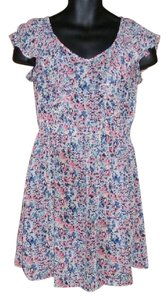 LC Lauren Conrad short dress Multicolor Abstract Floral See Through on Tradesy