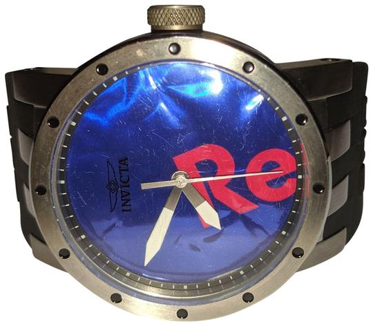 Preload https://img-static.tradesy.com/item/25897253/invicta-black-silver-red-blue-new-dna-recycle-art-stainless-steal-silicone-strap-b26-watch-0-1-540-540.jpg