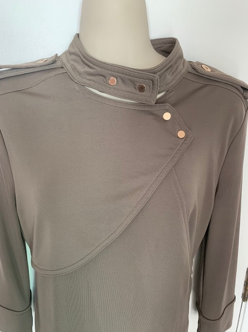 Ann Taylor Knit Epaulette Tunic Pullover Top taupe Image 1