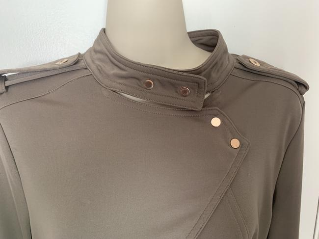 Ann Taylor Knit Epaulette Tunic Pullover Top taupe Image 2