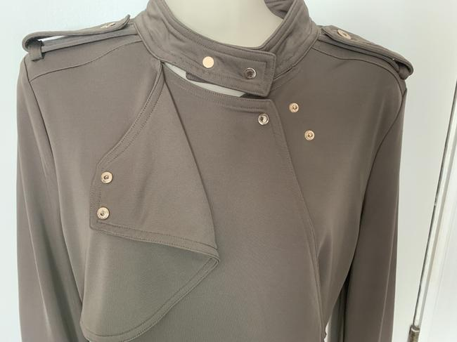 Ann Taylor Knit Epaulette Tunic Pullover Top taupe Image 3