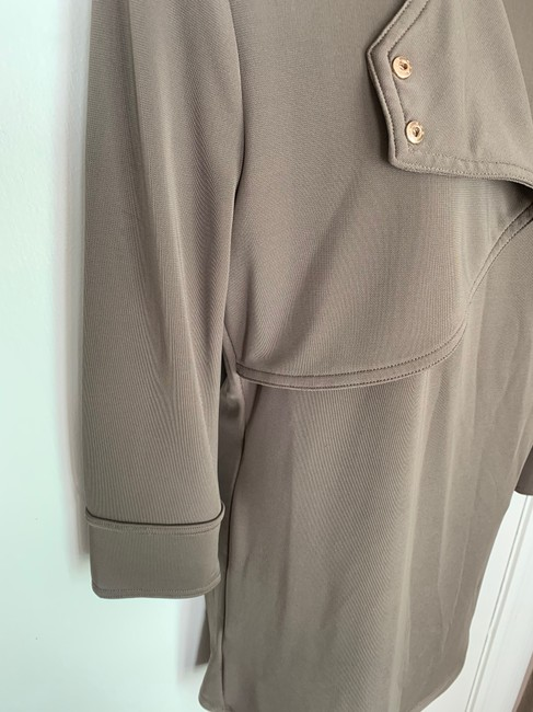 Ann Taylor Knit Epaulette Tunic Pullover Top taupe Image 4
