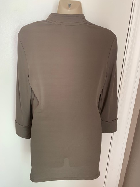Ann Taylor Knit Epaulette Tunic Pullover Top taupe Image 5