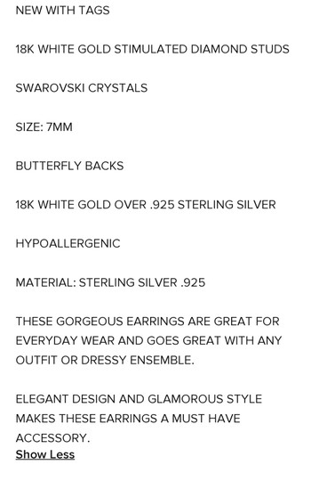 Other SIMULATED DIAMOND STUDS 2.00 CTW EARRINGS Image 4