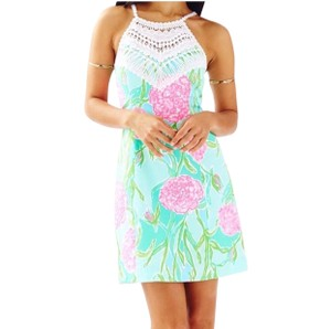Lilly Pulitzer short dress white, pink, green, blue on Tradesy