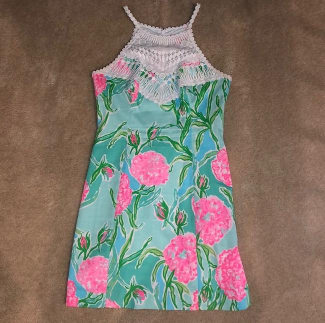 Lilly Pulitzer short dress white, pink, green, blue on Tradesy Image 1