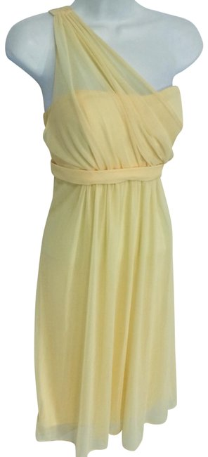 Item - Yellow Mid-length Formal Dress Size 6 (S)