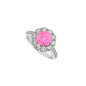 Marco B September Birthstone and Cubic Zirconia Halo Engagement Ring