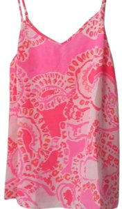Lilly Pulitzer Top pink, coral, white