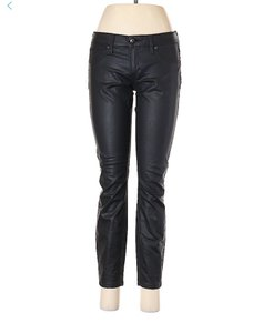 bebe Jegging Zippered Mid Rise Crop Skinny Jeans-Coated
