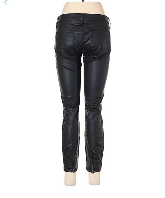 bebe Jegging Zippered Mid Rise Crop Skinny Jeans-Coated Image 1